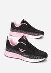 Czarno-Różowe Buty Sportowe Kynelle