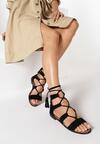 Czarne Sandały Diodorise