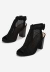 Czarne Sandały Cordegana