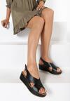 Czarne Sandały Merinore