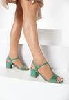 Zielone Sandały Haithoe