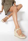 Beżowe Sandały Pirethea