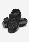 Czarno-Niebieskie Sandały Memei
