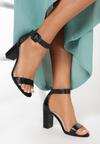 Czarne Sandały Delothia