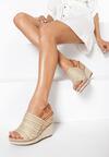 Jasnobeżowe Sandały Aelena