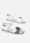 Biało-Niebieskie Sandały Terila