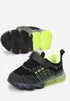 Czarno-Zielone Buty Sportowe  LED Acalelis