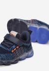 Granatowo-Pomarańczowe Buty Sportowe LED Acalelis
