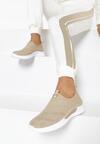 Beżowe Buty Sportowe Asiphia