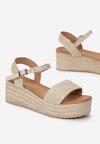 Beżowe Sandały Leuconia