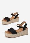 Czarne Sandały Leuconia
