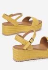 Żółte Sandały Leuconia