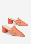 Pomarańczowe Klapki Neameni