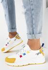 Biało-Żółte Sneakersy Olegonia