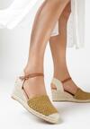 Beżowo-Żółte Sandały Coraenelle