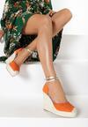 Pomarańczowe Sandały Limisa