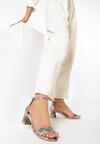 Brązowe Wężowe Sandały Shely