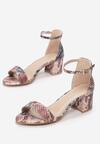 Różowe Wężowe Sandały Shely