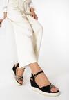 Czarne Sandały Celarea