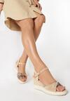 Beżowe Sandały Celarea