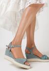 Miętowe Sandały Celarea