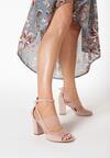 Różowe Sandały Delolina