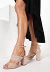 Beżowe Sandały Delolina