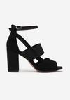 Czarne Sandały Delolina