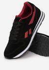 Czarno-Czerwone Buty Sportowe Shelfly