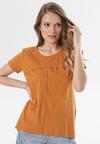 Camelowy T-shirt Assathea