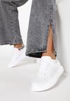Biało-Srebrne Sneakersy Neda
