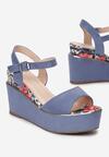 Niebieskie Sandały Genenore