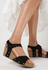 Czarne Sandały Eirely
