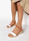 Camelowo-Białe Sandały Assame