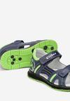 Granatowo-Zielone Sandały Narireida