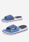 Granatowo-Niebieskie Klapki Aemara