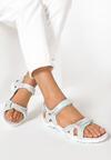 Szaro-Miętowe Sandały Echodone