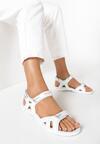 Srebrno-Niebieskie Sandały Echodone