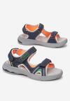 Granatowo-Pomarańczowe Sandały Aqualyn