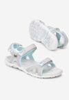 Szaro-Niebieskie Sandały Lorelora