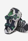 Granatowo-Zielone Sandały Sirerina