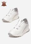Biało-Szare Skórzane Sneakersy Metiomine