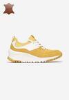 Żółte Skórzane Sneakersy Metiomine