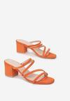 Pomarańczowe Klapki Mysrila