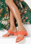 Pomarańczowe Klapki Iaorelia