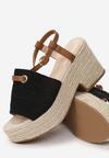 Czarne Sandały Yawen