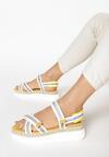 Biało-Żółte Sandały Naulin