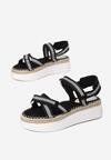 Czarne Sandały Naulin