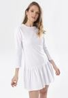 Biała Sukienka Adrienella