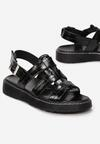 Czarne Sandały Aeridina
